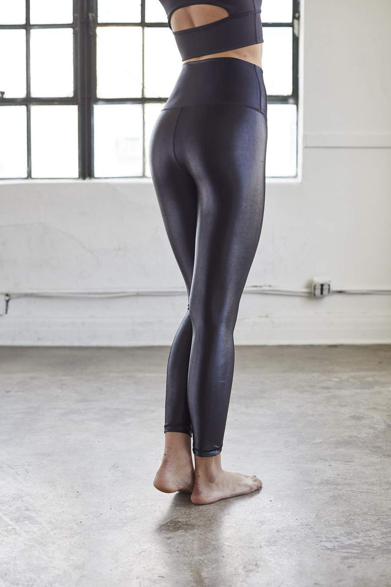 Black High Shine Liquid Leggings - Final Sale