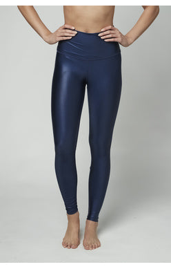 Midnight Navy High Shine Tight