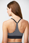 Triangle Bra - Black White Stripe Mix