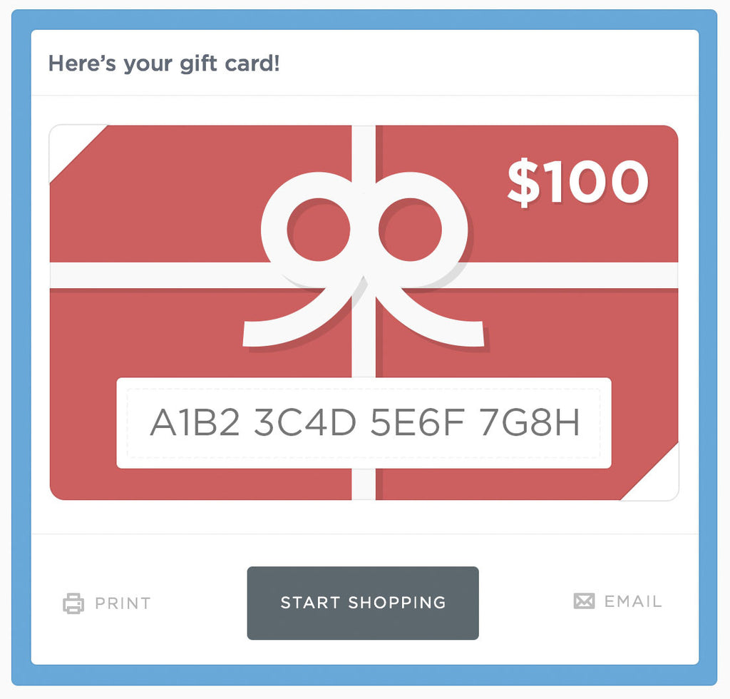 Gift Card - Final Sale