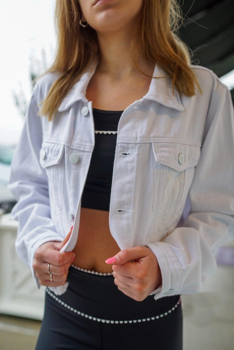Dimvaloo Cropped Denim Jacket - Final Sale