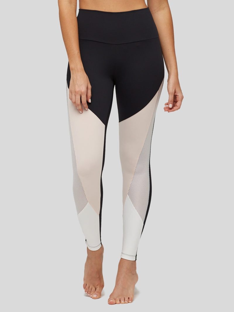 High Waisted Tri Color Legging