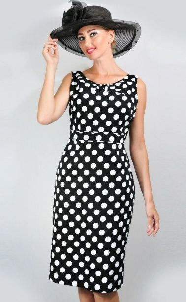 AA-40174 Couture Polka Dot Dress