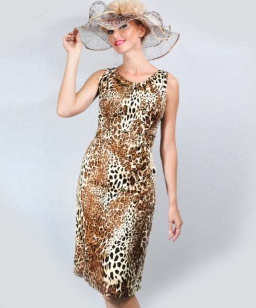 Couture Leopard Print Dress