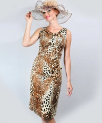 AA-40177 Couture Leopard Print Dress
