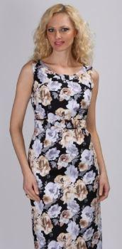 Couture Floral Print Pencil Fit Dress