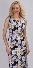 AA-40254 Couture Floral Print Pencil Fit Dress