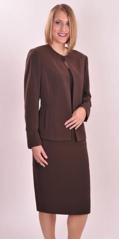 Couture Brown Two-Piece Dress