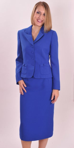 Aa 60159 Royal Blue 2 Piece Dress Alemac Apparel Inc