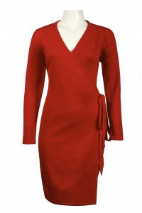 Amanda Charles Wrap Knit Dress
