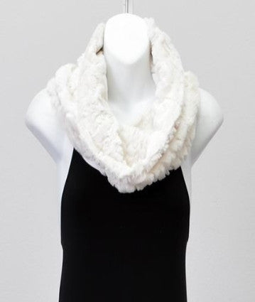 Sequined Faux Fur Cowl