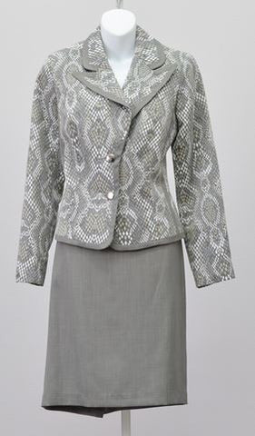 Isabella Snake Pattern 2pc Suit