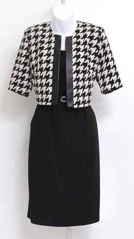 R&M Richards 9761 Houndstooth 2pc Dress