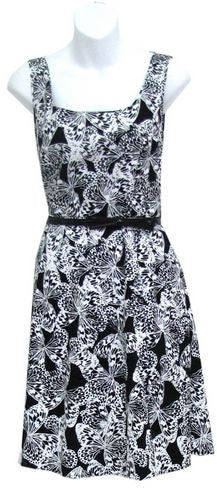 Spense 71356 Graphic Butterfly Print Dress