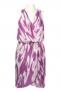 Walter Baker Surplice Chiffon Dress