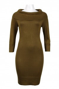 Tiana B. Long Sleeve Neck Knit Sheath Dress