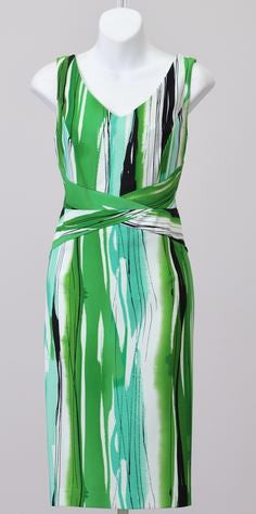 Dana Kay Paint Stroke Print Dress