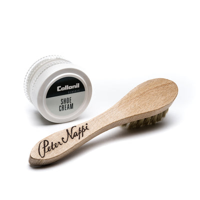 Complimentary Shoe Care Kit with Brush