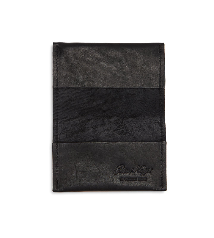 Small BiFold Wallet in Nero