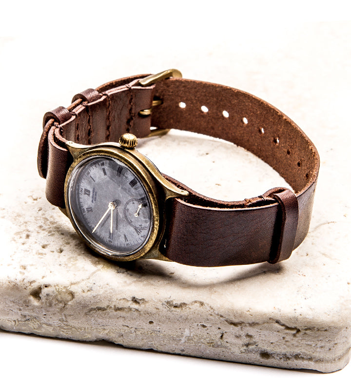 Cloud/Brass Watch Brown
