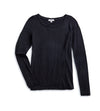 Women's Basis Round Neck Long Sleeve - Black