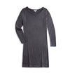 Woman's Boat Neck LS Shirt Dress - Grey