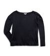 Woman's LS Boat Neck T-Shirt - Black