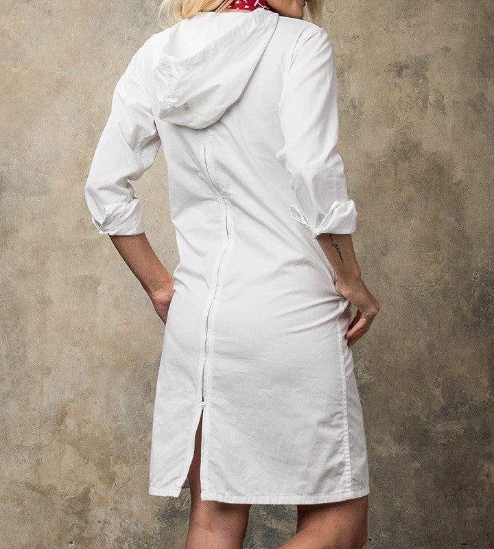 FWK Long Bush Dress - White French Twill