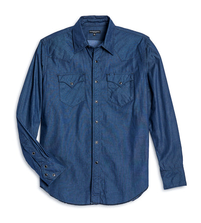 Engineered Garments Western Shirt - Indigo Light Weight Denim size XL