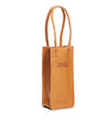 Leather Wine Tote in Sturdy Cuoio