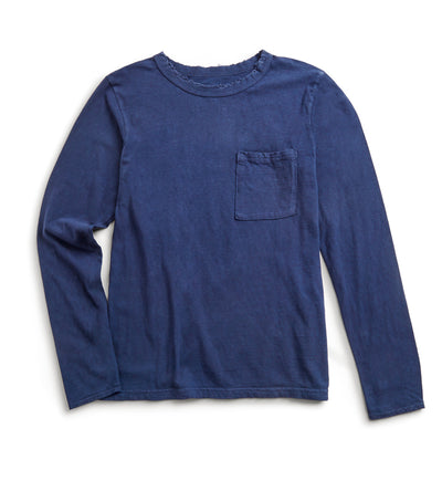 Jersey Crash Long Sleeve T - Navy
