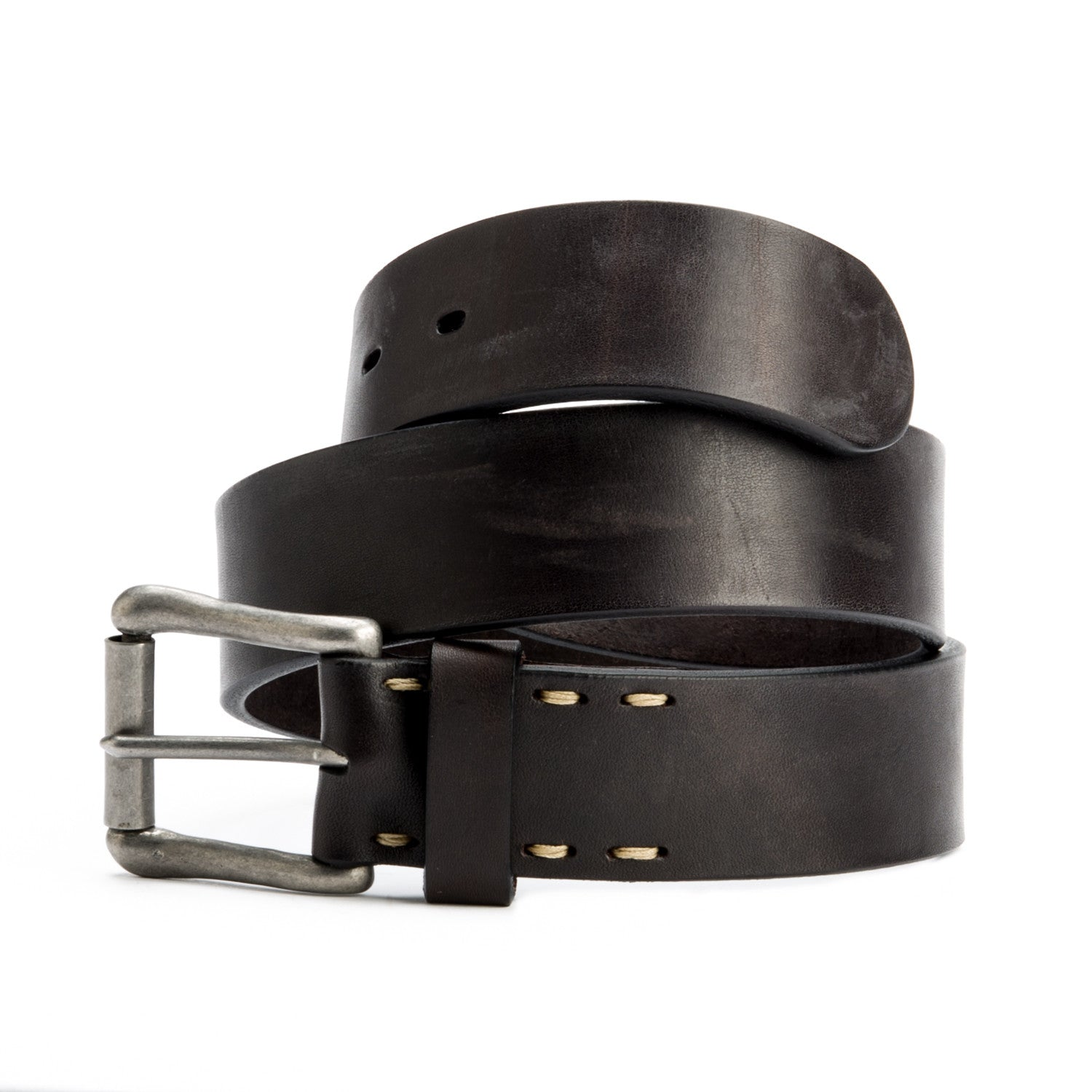Nero Belt with Brushed Nickel Buckle - Peter Nappi - 2