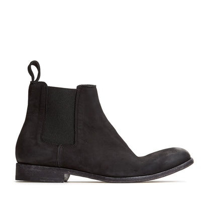 Men's Chelsea in Nubuck Black