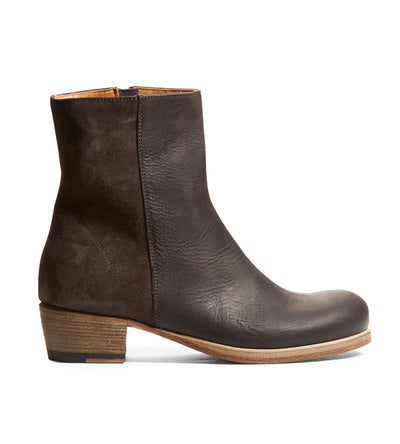 Silvia Bootie in Kudu Charcoal