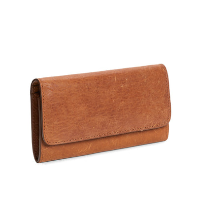 LIA Continental Wallet in Marrone