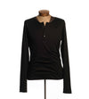 Black Long Sleeve Henley - Men's