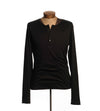 Black Long Sleeve Henley - Women's