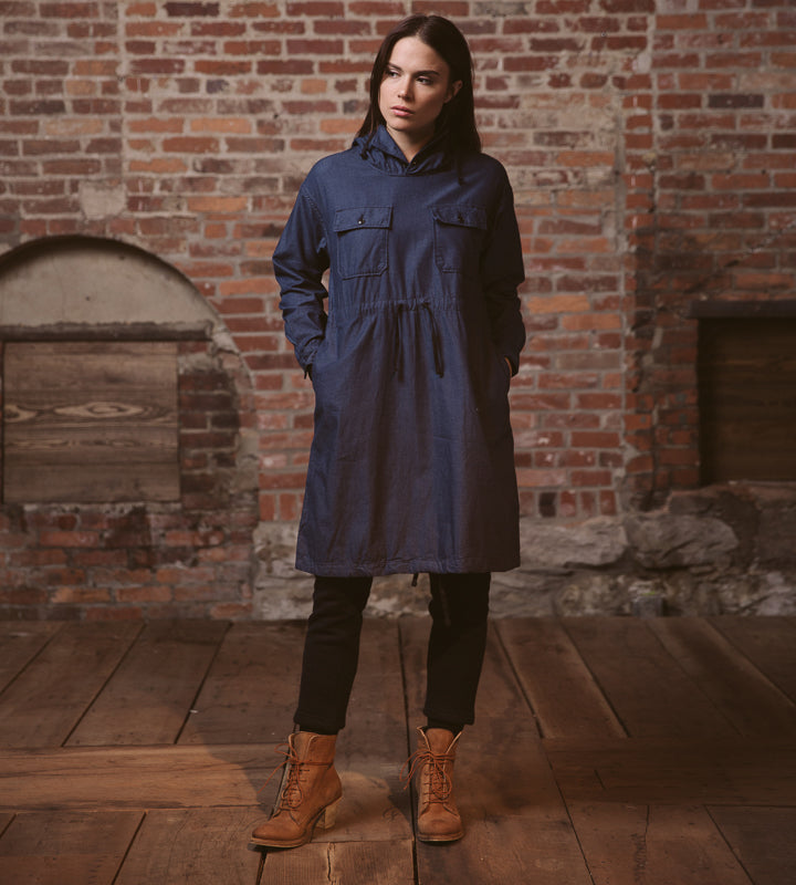 FWK Cagoule Dress - Indigo Light Weight Denim