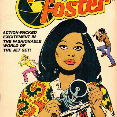 Comic book cover of African American woman photographer