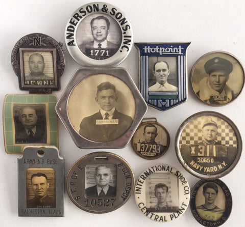 12 Vintage Photo ID Badges