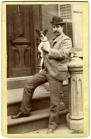 Vintage Dog Cabinet Card Photograph