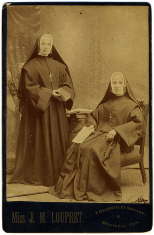 Antique Nun Cabinet Card Photo, c. 1900