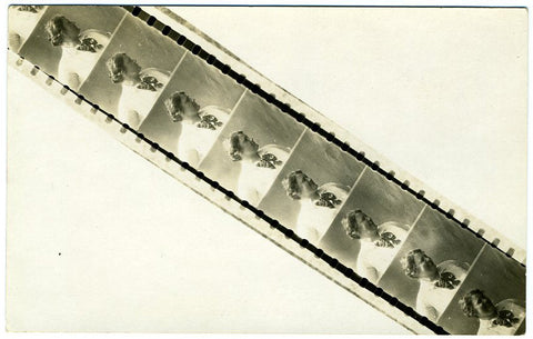 Roll of film. Vintage Photo Postcard