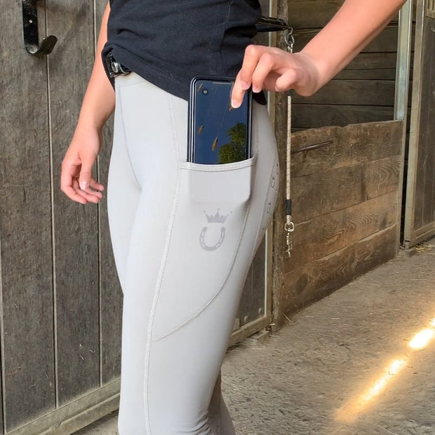 Reitleggings 2.0 MudGrey