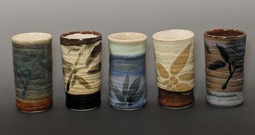 Pottery cup examples, tumbler style