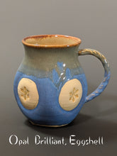 Load image into Gallery viewer, Pottery Mug: Snowflake Style
