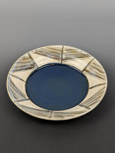 Pottery bowl/plate, tapa design