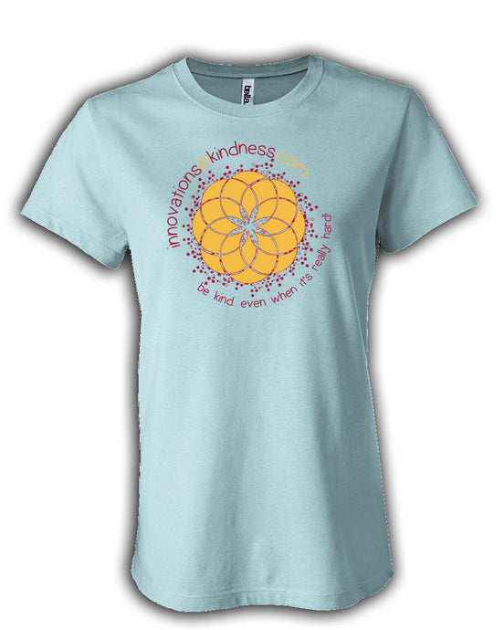Ladies light aqua kindness t-shirt