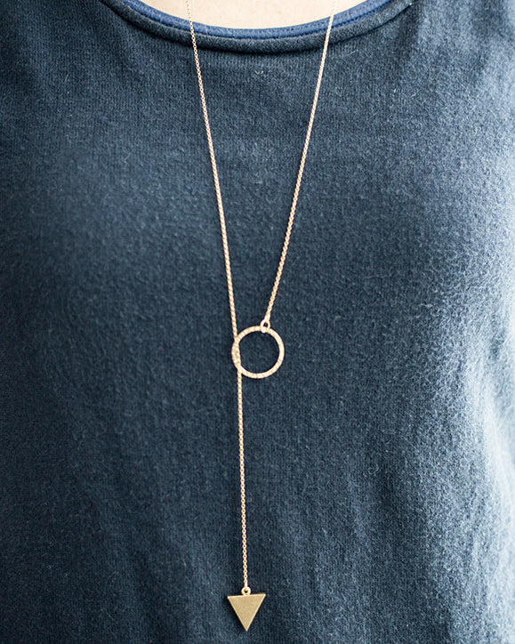 Mei Lariat Silver Necklace (45-248)
