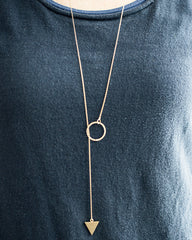 Mei Lariat Gold Necklace (46-238)